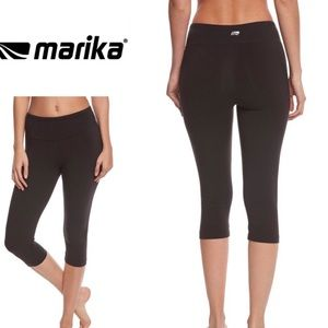 Marika Black Yoga Capri Pants Tights Running M